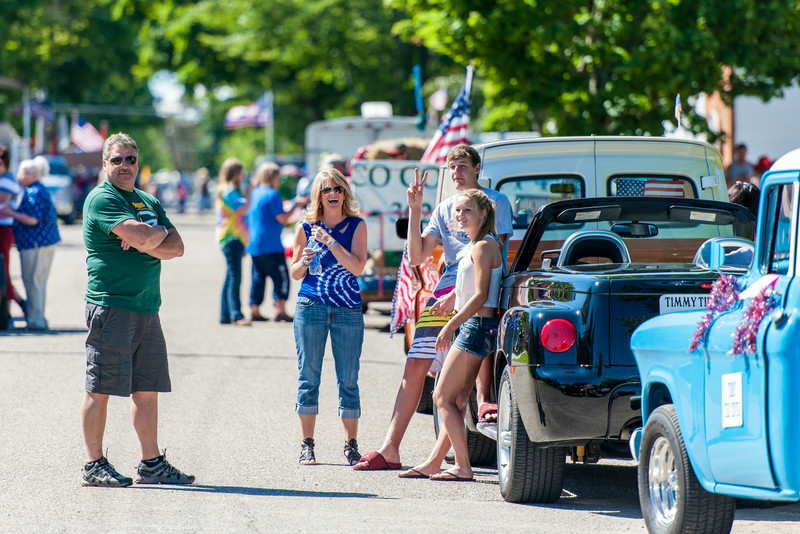 Parade staging area, 4th of July, 2014, Tawas, Michigan