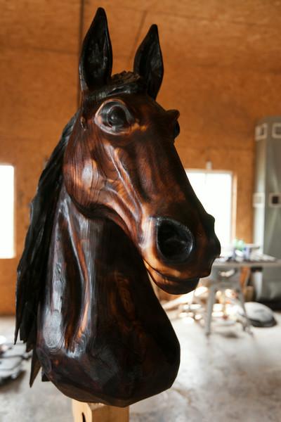 Wood carving by Gary Elzerman, Brandon Township, Michigan