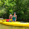 Pam and Jamie.  Kayaking on Lake Voorheis.