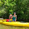 Pam and Jamie.  Kayaking on Lake Voorheis.