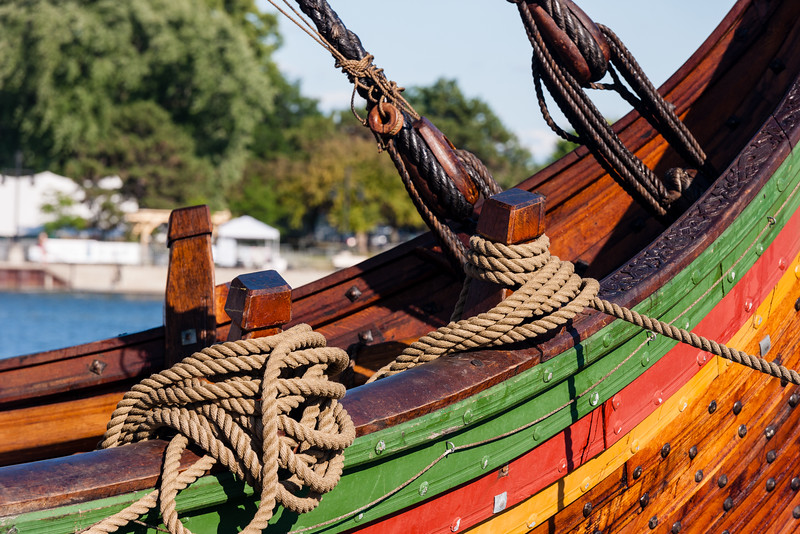 Highly accurate reproduction of a viking ship, Bay City, Michigan