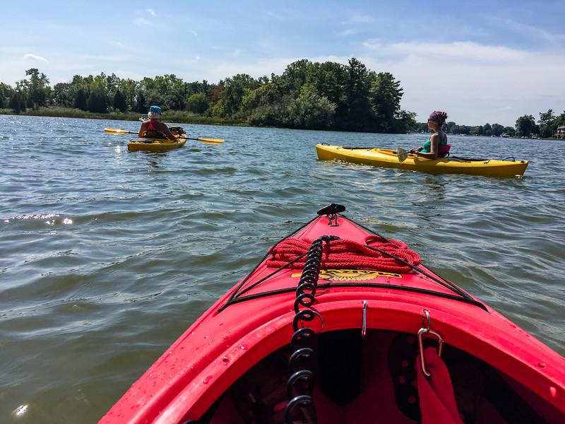 Pam, Dave, and Jamie.  Kayaking on Lake Voorheis.