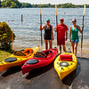 Pam, Dave, and Jamie.  Kayaking on Lake Voorheis.