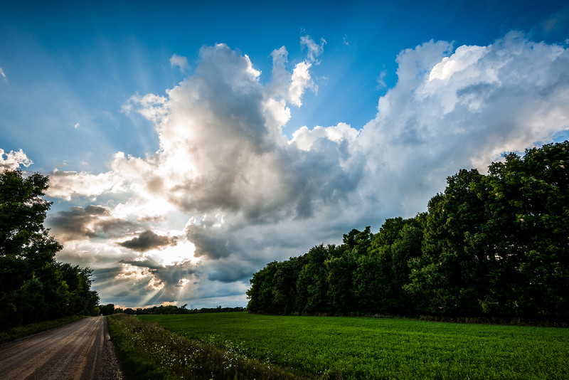 Dramatic summer sky.  North Branch, Michigan.