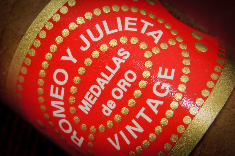 Close up of a cigar label.