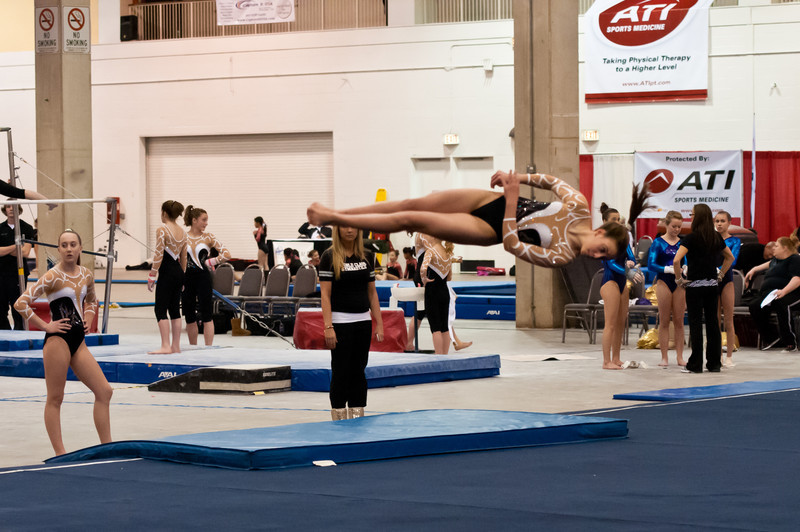 Competitor from World Class Gymnastics, Newport News, VA at the Chicago Style meet, February, 2012