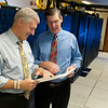 Valassis CEO Rob Mason (L) and Chairman of the Board Al Schultz in the Valassis data center