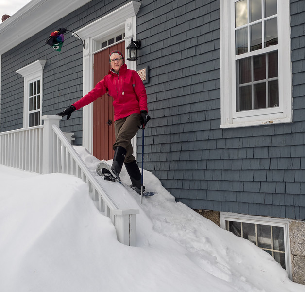 What's a little snow between you and your front door.