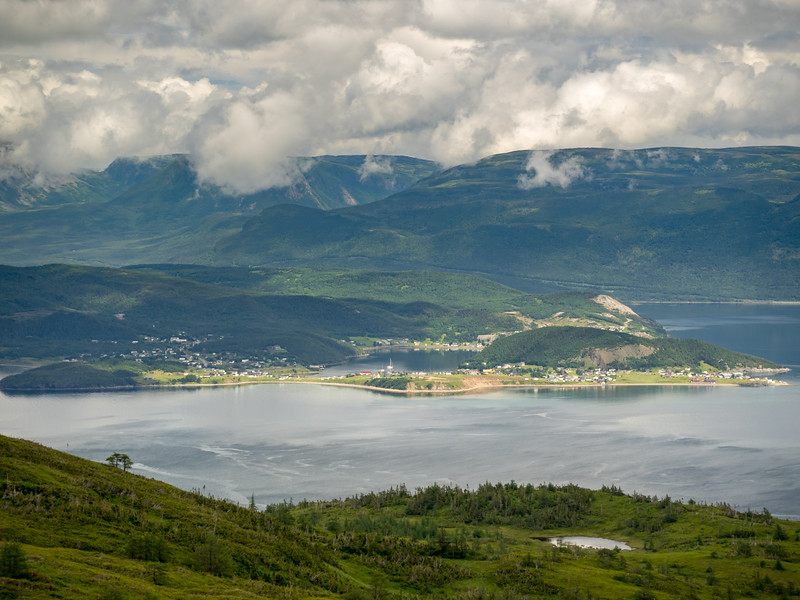"...Bonne Bay, on the west coast of Newfoundland, site of spectacular Gross Morne National Park. <br /> <br /> You can get a sense of the scale of the place by finding ""Morgan's Cloud"" in the picture."