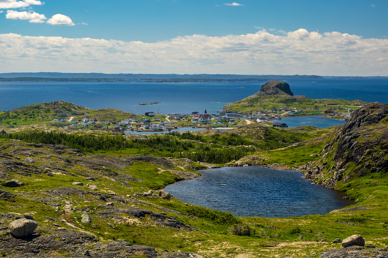 While I (John) had visited Fogo Island some 20 years ago, it was brief, and Phyllis had never been to this remote outpost, so it was a target for our summer. We spent a happy week hiking and meeting the locals.