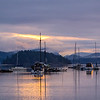 """Dawn at Ganges, Saltspring Island, B.C. Our purpose for the visit to the west coast was to decide whether or not we would like to sail """"Morgan's Cloud"""" to a place where we could once again live aboard, and even cruise, all year round."""