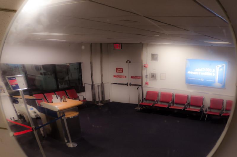Empty Boarding Area