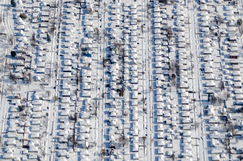 Neighborhood Under Snow