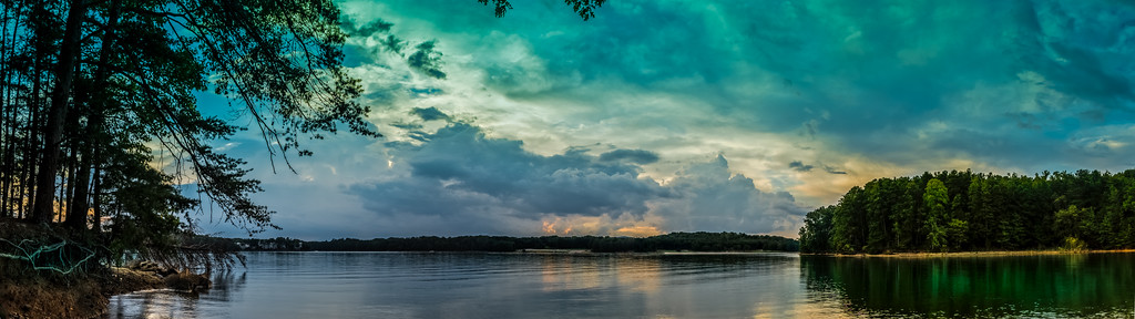 Lake Sunset - Pano