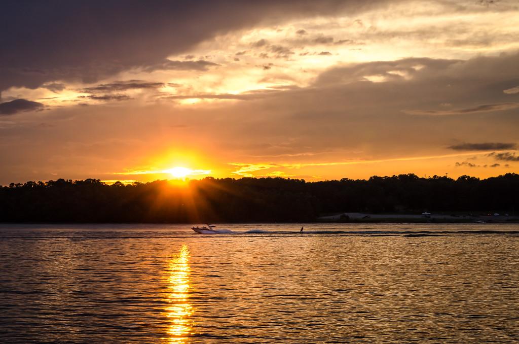 Sunset Skier