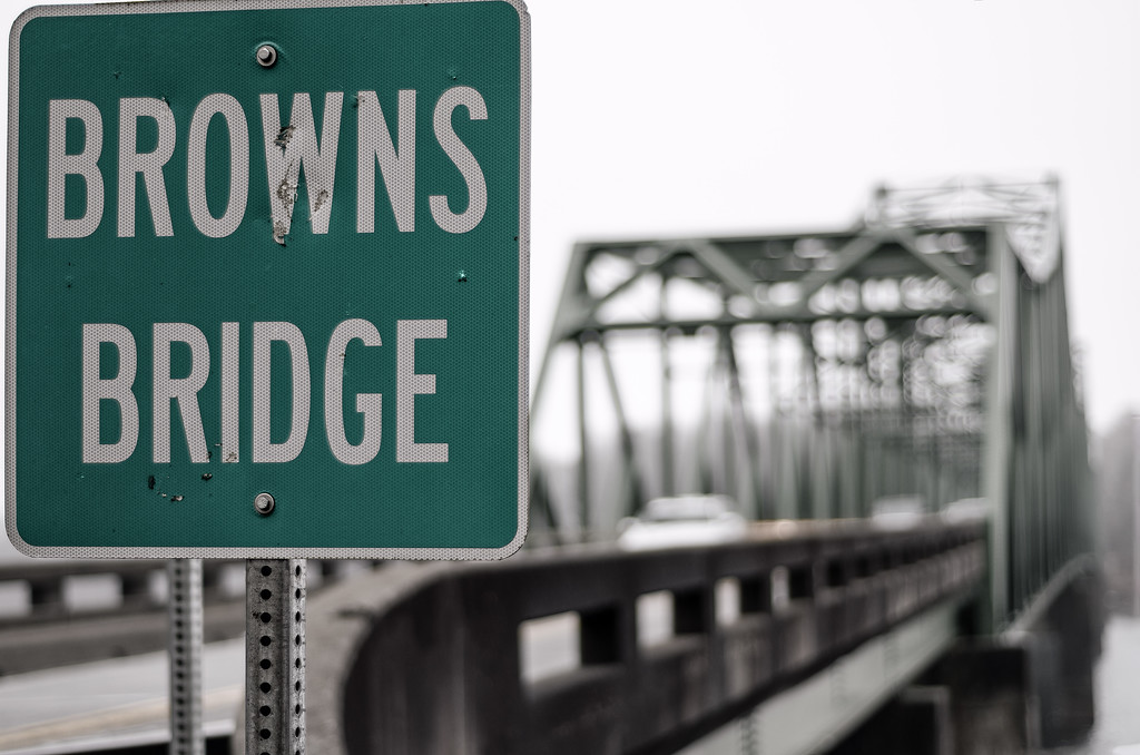 Browns Bridge Sign