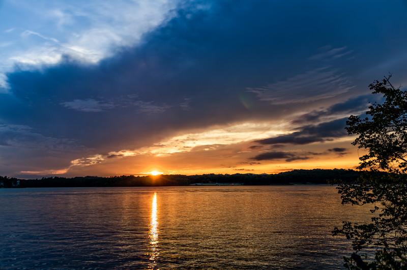Sunset Across the Lake