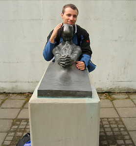 me with a statue