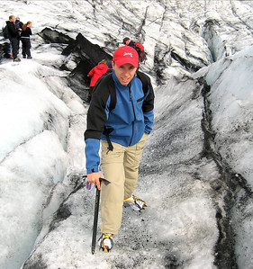 me on a glacier