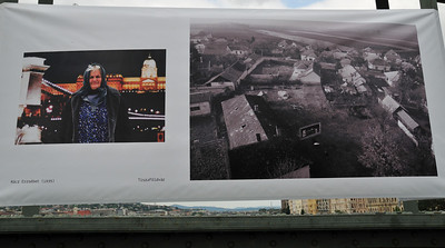 Cool photo exhibit on the side of the bridge - guy takes pictures of Hungarian peasants with the bridge in the background. Then shows how the picture was taken. Pretty cool, if eerie.