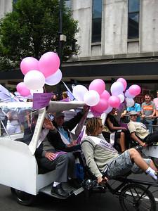 Older gays were provided rickshaws.