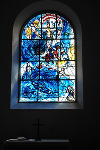 First stop - All Saints Tudeley church. All windows are made by Marc Chagall.