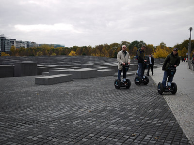 Best way to appreciate the 6 million Jews killed in Holocaust - by Segwaying around the memorial