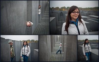 The Holocaust memorial was right next door