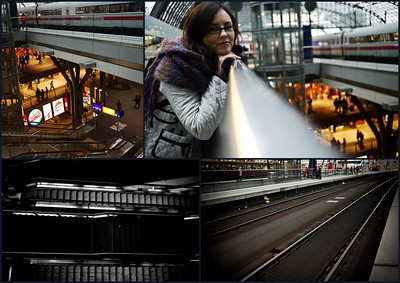 Then we went to the train station - it's very cool inside. Very futuristic