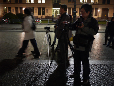 No camera is too small to be put on a tripod in Berlin