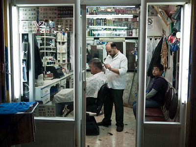 Barber shop in the Arab quarter