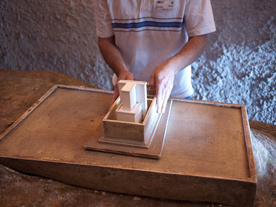 Model of the second temple. We took a tour of the underground tunnels below the Western Wall.