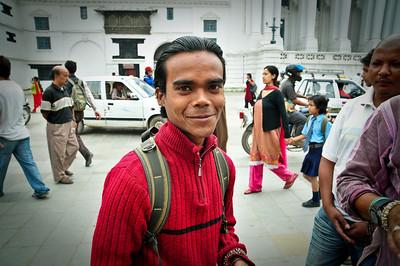 Guy hawking some shnyaga to tourists