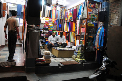 The textile stores are all Indian-run. This is the last shot taken while this area had electricity