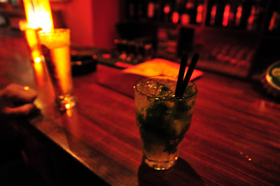 What do you call some ice, lime and a drop of vodka in a Sagres bar?   -A Mohito