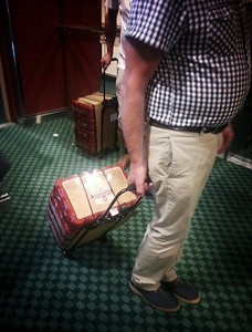 Swedes use time on the ship wisely. Cart comes free with the 100-pack of beer