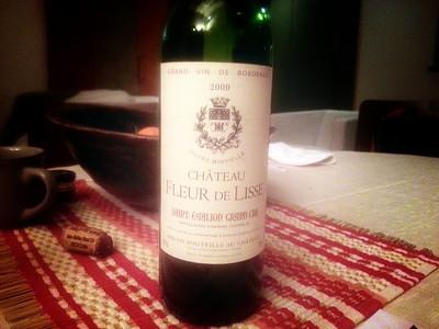 Отличное вино - подарок от хозяйки