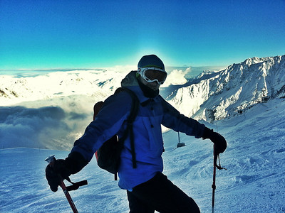 2,700m - Grand Montets. -20C