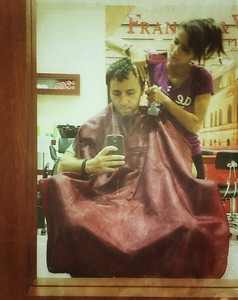 First thing upon landing - get haircut at the airport