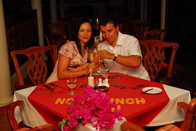 Special honeymoon dinner.