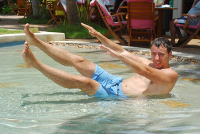 Aqua-pilates.
