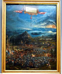 Alexander the Great defeating Darius, the Persian king.