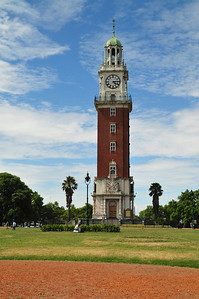 Tower is a gift from England to Argentina like 100 years ago. You can see anti-English, pro-Falklands graffiti on the bottom.