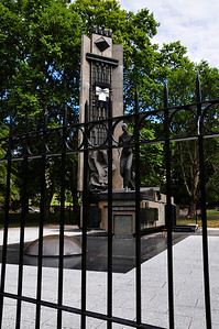Eva Peron memorial. It's all fenced in, apparently very controversial