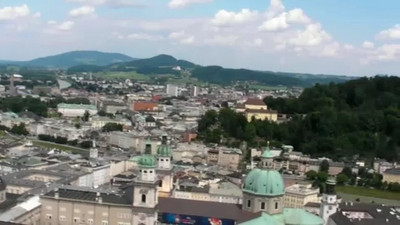 Looking at Salzburg from above. Meeting the camera's little brother.