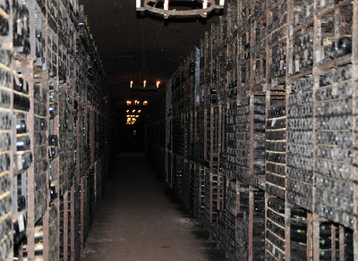 Personal wine cellar of the owner. Has like 30 or 50 thousand bottles. I hope she doesn't plan to finish them all in her lifetime