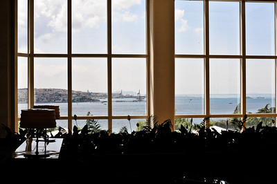 View from the hotel lobby - Bosphorus.