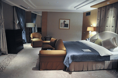 Hotel room in Ankara. They ran out of regular rooms so gave me the Presidential Suite. It was huge - I hated it. Felt like living in a palace - not my cuppa tea.