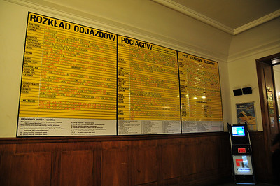 This is a lens test. Or if you ever wanted to know the Krakow train schedule, it's here.