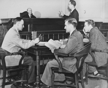 Law School - Eagle courtroom, University Archives, 1950, call number: 85Y:1(1) © UB Archives   Please contact University Archives at lib-archives@buffalo.edu for permission to use this image.